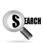 clip art of a search icon